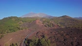 meddő : Flying over volcanic landscape near Mirador de Samara and Teide National Park, Tenerife, Canary islands, Spain