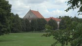 litwa : Landscape in front of church