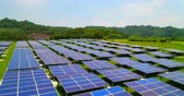 economical : aerial shot of solar panels in the taipei Stock Footage