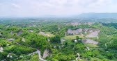 bambus : aerial of beauty erliao scenery in the tainan