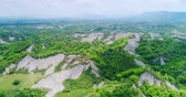 campo : aerial of beauty erliao scenery in the tainan