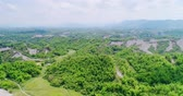 formosa : aerial of beauty erliao scenery in the tainan
