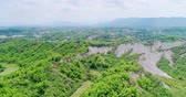 bamboo forest : aerial of beauty erliao scenery in the tainan