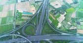 autostrada : aerial view of turbine road highway interchange in tainan