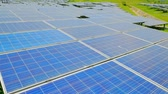 economical : close up of solar panels in the outdoor Stock Footage