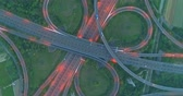 nowoczesne : aerial view of highway interchange in tainan at night