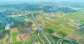 dálnice : aerial view of turbine road highway interchange in taiwan