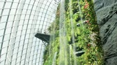skywalk : Cloud Forest Dome, Singapore - July 24, 2018: Inside of the building in Garden by the Bay