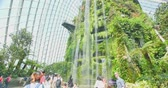 koru : Cloud Forest Dome, Singapore - July 24, 2018: Inside of the building in Garden by the Bay
