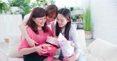 aposentar : two daughters give mom a surprise and celebrate happy mother day at home
