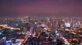 marvelous : Bangkok, Thailand - January 26, 2019: Time-lapse of beautiful city view at night