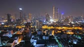 zdziwienie : Bangkok, Thailand - January 26, 2019: Time-lapse of beautiful city view at night
