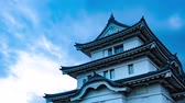 importante : 4K Historical Japanese Castle Sunset Sky Timelapse Ancient Castle Sunset