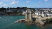 wazon : Aerial view of Saint Servan and the Solidor tower, Saint Malo in French Brittany, France.