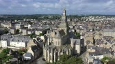fellegvár : Aerial view of the historic town of Dinan in Brittany, France