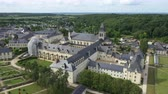 múzeum : Aerial view of Abbey of Fontevraud, Anjou, Fontevraud Abbey, Maine-et-Loire department, Loire Valley, Loire Valley, UNESCO World Heritage Site, France,