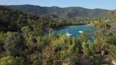ipuçları : Aerial view of Cavaliere and Layet at Cavaliere located near Le Lavandou on the French meditteranean coast