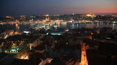 evening : Istanbul at Sunset Stock Footage