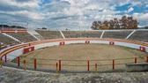 tourada : Bullfight ring time lapse with cloudy sky Stock Footage