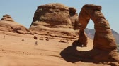 fragility : Delicate arch Stock Footage