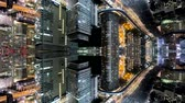 verschmelzung : Fantasy time-lapse of tokyo city skyline with mirrored office buildings merging