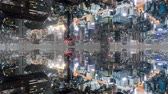 verward : Fantasy time lapse of tokyo with mirrored buildings