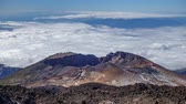 elewacja : Time lapse of Pico Viejo volcano with clouds Wideo