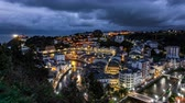 bevalling : Night falling over Luarca city time lapse