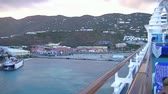 varanda : View of the mountains of Tortola from the balcony on a cruise ship
