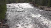 sesleri : white rapids leading to a waterfalls video2