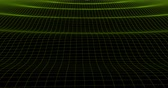 grid : waves on a grid, abstract background , alpha channel Stock Footage
