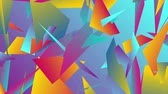 fragman : Colorful abstract low poly splinters tech motion design. Seamless looping. Video animation Ultra HD 4K 3840x2160