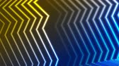 refração : Blue and yellow neon laser glowing curved lines abstract motion background. Seamless loop. Video animation Ultra HD 4K 3840x2160 Vídeos