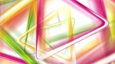 brochura : Colorful smooth triangles tech motion background. Video animation Ultra HD 4K 3840x2160