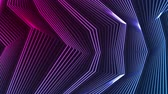 refração : Blue and ultraviolet neon laser glowing curved 3d lines abstract motion background. Seamless loop. Video animation Ultra HD 4K 3840x2160 Vídeos