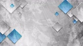 iridescente : Gray blue grunge wall texture and squares geometric motion design. Seamless looping. Video animation Ultra HD 4K 3840x2160 Vídeos