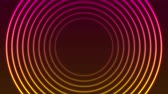 iridescente : Bright neon circle rings abstract video animation Vídeos