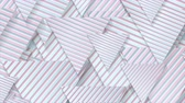 iridescente : Blue pink paper triangles with striped texture video animation Vídeos