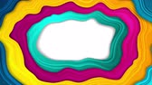 hullám : Colorful liquid flowing waves abstract video animation