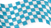 hullám : Blue Oktoberfest waving flag abstract video animation
