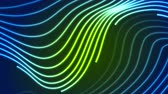 привет : Abstract futuristic green blue neon wavy video animation