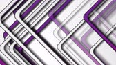 привет : Violet and grey stripes abstract tech video animation Стоковые видеозаписи
