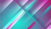 abstraktní : Cyan and pink smooth stripes and dots abstract motion background