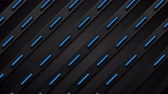 sötét : Black and glowing neon blue stripes abstract motion background