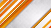 concept : Corporate abstract video animation with orange stripes