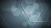 привет : Dark blue hi-tech geometric hexagons abstract video animation