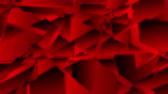 concept : Dark red abstract low poly geometric video animation Wideo