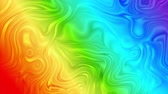 hullám : Colorful rainbow abstract glossy liquid waves video animation Stock mozgókép