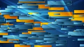 geometryczne : Blue and orange glossy geometric abstract video animation