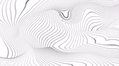 geometryczne : Grey curved refracted 3d geometric lines tech motion background